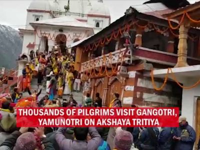 Char Dham yatra begins as portals of Gangotri and Yamunotri shrines open