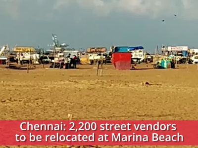 Chennai: 2,200 street vendors to be relocated to designated rows at Marina Beach
