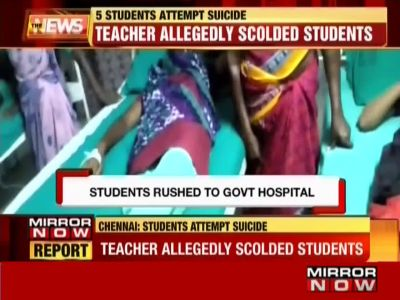 Chennai: 5 students attempt suicide after being humiliated by teacher in front of class