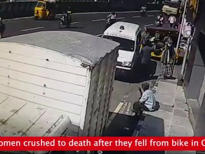 Chennai: Two women crushed to death after they fell from bike