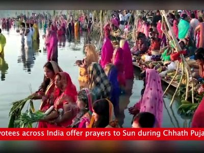 Chhath Puja celebrated across India with much fervour