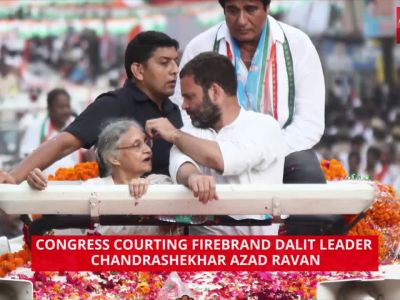 Congress courts Bhim Army chief Chandrashekhar Azad Ravan in fight for Dalit votes