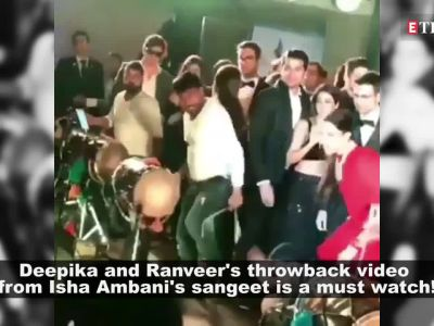 Deepika Padukone and Ranveer Singh burn the dance floor at Isha Ambani's sangeet ceremony in this throwback video