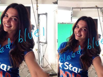 Deepika Padukone in Team India new jersey