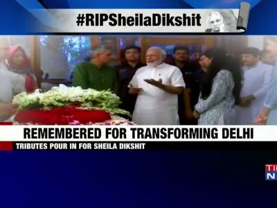 Delhi: Leaders, supporters pay last respects to three-term CM Sheila Dikshit