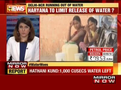 Delhi-NCR running out of water; crisis to hit Uttar Pradesh also