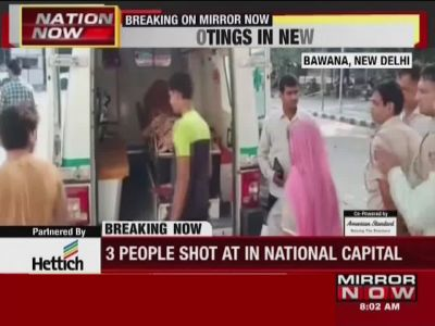 Delhi: Three people shot at in separate incidents