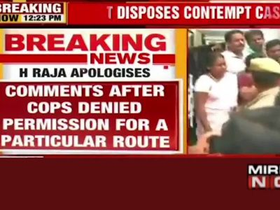 Derogatory comments against judiciary: BJP leader H Raja tenders unconditional apology