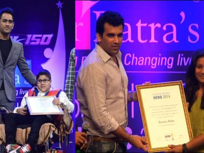 Dhoni, Zaheer at 9th Positive Health Awards 2014
