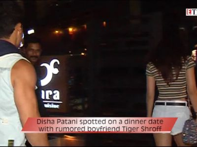 Disha Patani spotted on a dinner date with rumored boyfriend Tiger Shroff