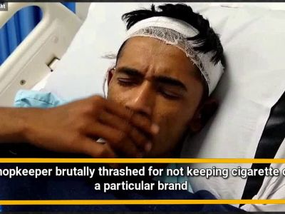 Drunk men thrash shopkeeper for not keeping cigarette of a particular brand