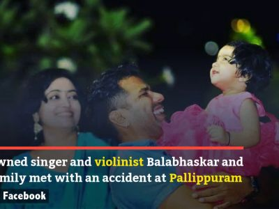 Famous violinist Balabhaskar, wife critically injured, daughter dies in road accident