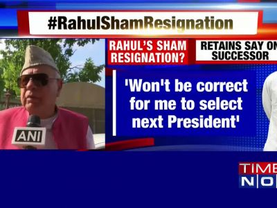 Farooq Abdullah congratulates Rahul Gandhi on his decision to resign as Congress President
