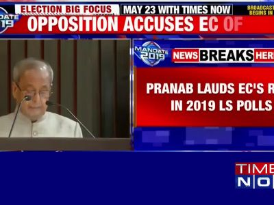 Former President Pranab Mukherjee lauds EC amidst accusations of being biased