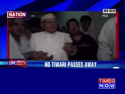 Former UP CM ND Tiwari passes away in Delhi