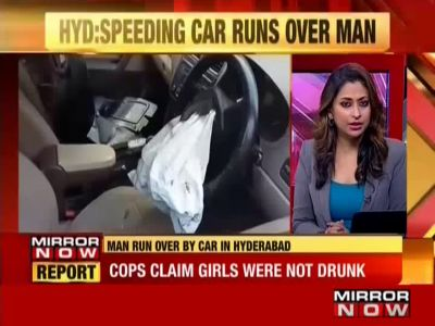 Girl runs car over man in Hyderabad's Kushaiguda