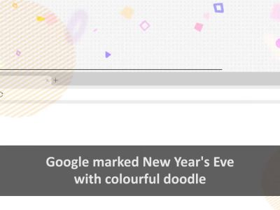 Google bids adieu to 2019 with a colourful New Year's Eve doodle