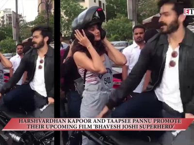 Harshvardhan Kapoor and Taapsee Pannu promote their upcoming film 'Bhavesh Joshi Superhero'