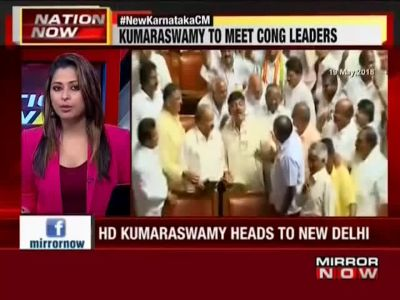 HD Kumaraswamy to meet Sonia and Rahul in Delhi