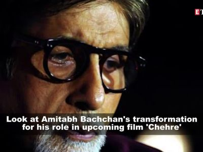 Here's a look at Amitabh Bachchan's transformation for his role in upcoming film 'Chehre'