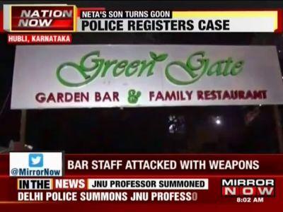 Hubli: Congress leader's son, aides attack bar staff