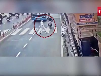 Hyderabad: Biker rams into ISKCON temple priest on zebra crossing