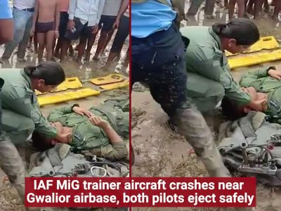 IAF MiG-21 trainer jet crashes in Gwalior, both pilots eject safely