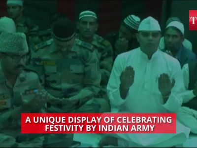 Indian Army celebrates Eid with locals in Kashmir