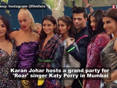 Inside videos and pictures from Karan Johar's star studded party for Katy Perry