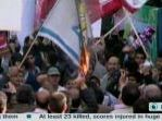 Iranians burn US flags to mark embassy seizure