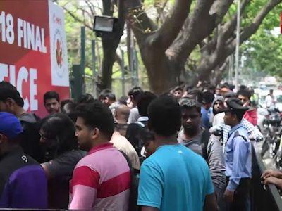 ISL final: Holding govt photo IDs, fans make beeline for tickets