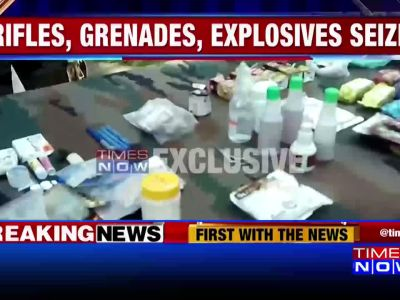 J&K: 5 infiltrators gunned down; huge cache of arms & ammunition recovered