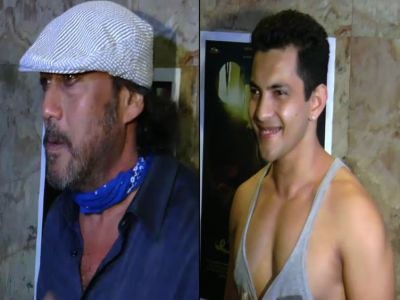 Jackie Shroff, Aditya Narayan at 'Makhmal' screening