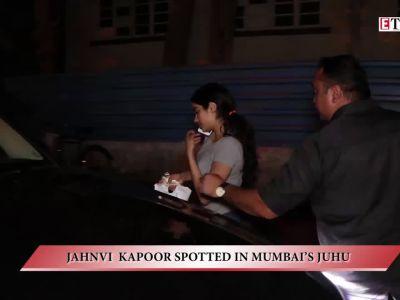 Jahnvi Kapoor spotted in Mumbai's Juhu