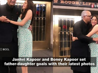 Janhvi Kapoor and Boney Kapoor make the cutest father-daughter duo, these pictures are the proof