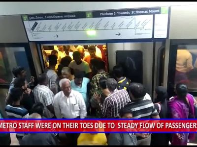 Joyriders throng metro after launch of new stretches in Chennai