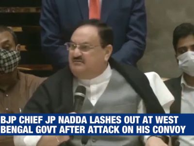 JP Nadda lashes out at West Bengal govt post convoy attack, says administration has crumbled
