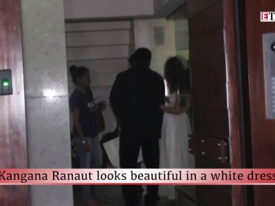 Kangana Ranaut looks beautiful in a white dress