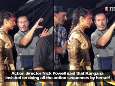 Kangana Ranaut pulled off smoother stunts than Tom Cruise, says Nick Powell