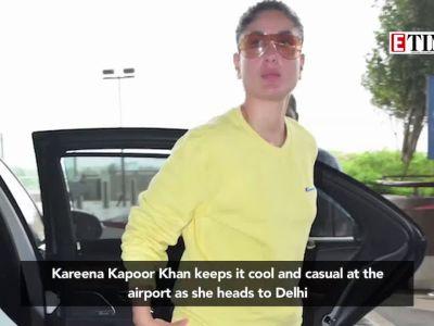 Kareena Kapoor Khan keeps it cool and casual at the airport as she heads to Delhi