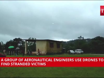 Karnataka floods: Engineers use drone to save stranded people