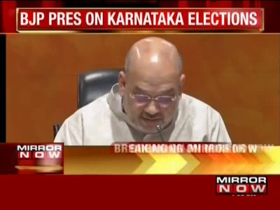 Karnataka mandate was anti-Congress, JDS: Amit Shah
