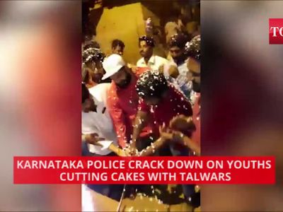 Karnataka police crack down on youths cutting cakes with talwars