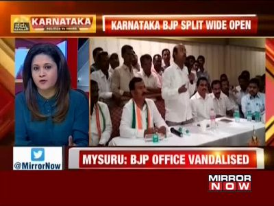 Karnataka polls: Over 70 BJP workers join Congress after Yeddyurappa's son denied ticket