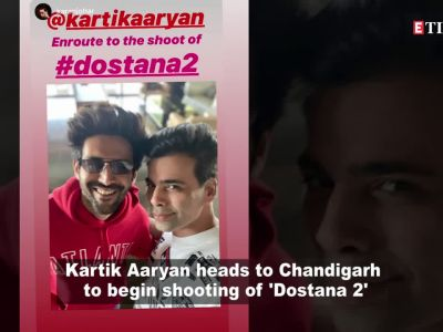 Kartik Aaryan follows 'Dharma rivaaz', takes blessings of Karan Johar before beginning 'Dostana 2' shooting