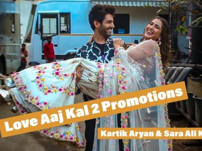 Kartik Aryan & Sara Ali Khan Promoting Movie Love Aaj Kal 2