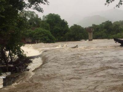 Kerala Floods: Flooded Tamiraparani river in Tirunelveli district