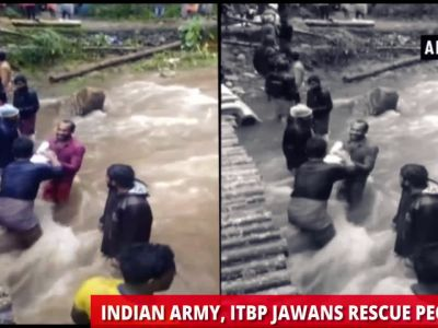 Kerala floods: Heavy downpour, landslide claim several lives, Indian Army, ITBP jawans rescue people in worst-affected areas