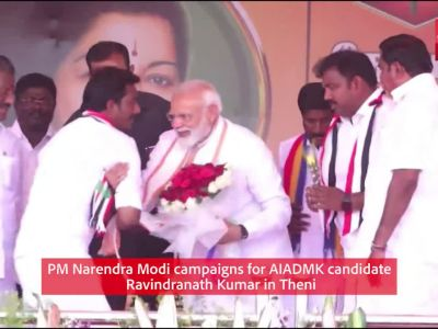 Lok Sabha polls: PM Narendra Modi campaigns for AIADMK candidate in Theni