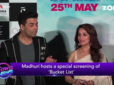 Madhuri Dixit upsets paparazzi at 'Bucket List' screening